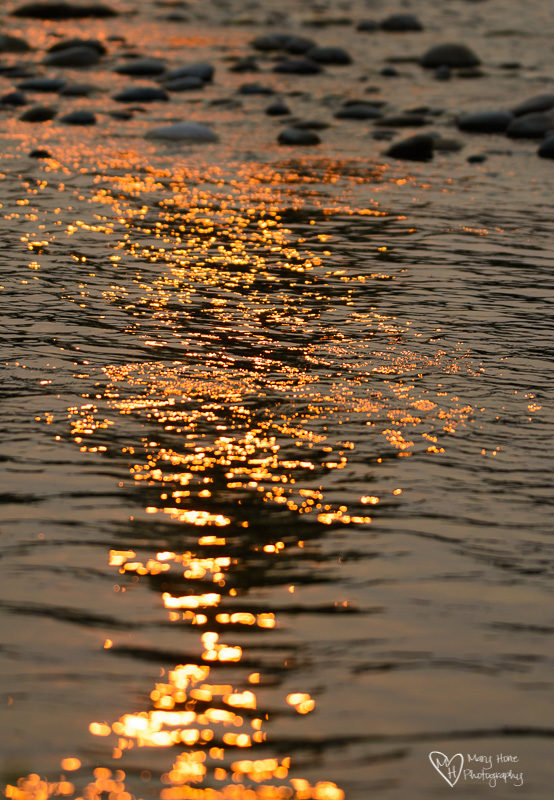 shimmery water
