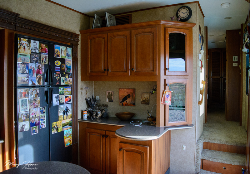rv fridge and kitchen