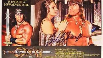 Arnold Schwarzenegger Signed Conan Photo Autograph