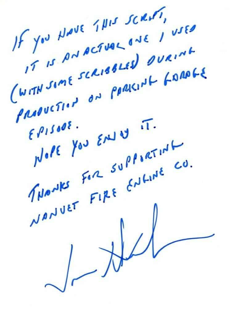 Jason Alexander shows how kind celebrities can be. He donated this  hand written note to a charitable cause.