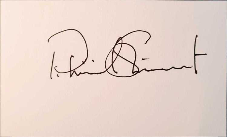 """Patrick Stewart autograph on index card. Singed via venue on the set of """"Picard""""."""