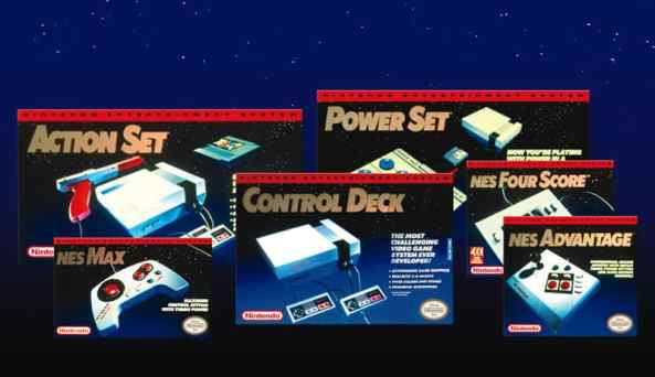 NES era console and controller boxes designed by Tim Girvin