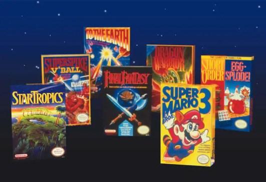 NES era game boxes designed by Tim Girvin
