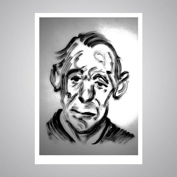 John Deakin portrait by Darren Coffield