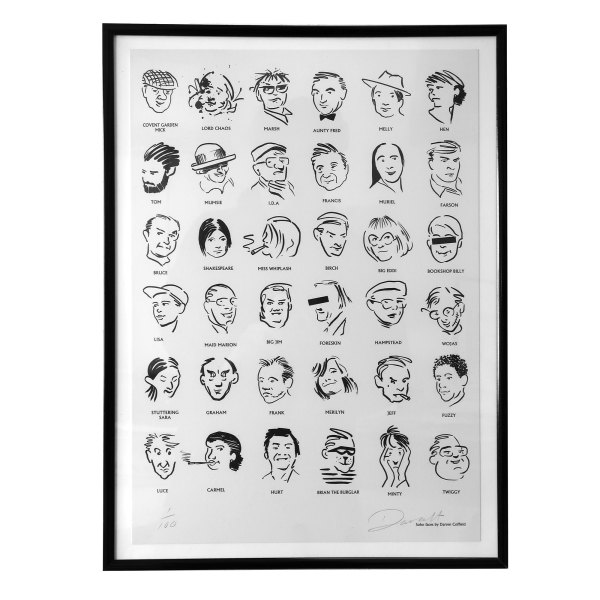 Colony Room Characters limited edition print by Darren Coffield (framed)