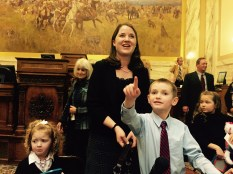 …the kids saw their Dad named Speaker for the first time!