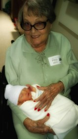 Mom with great grandson EJ