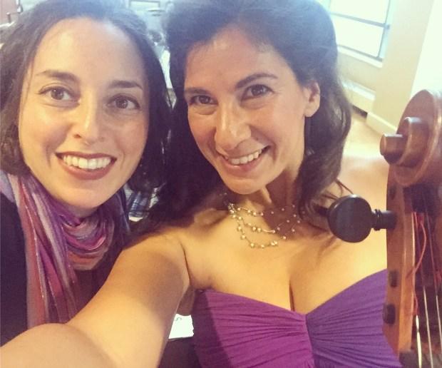 Kate and Sarah Purple