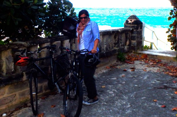 Kate with bikes