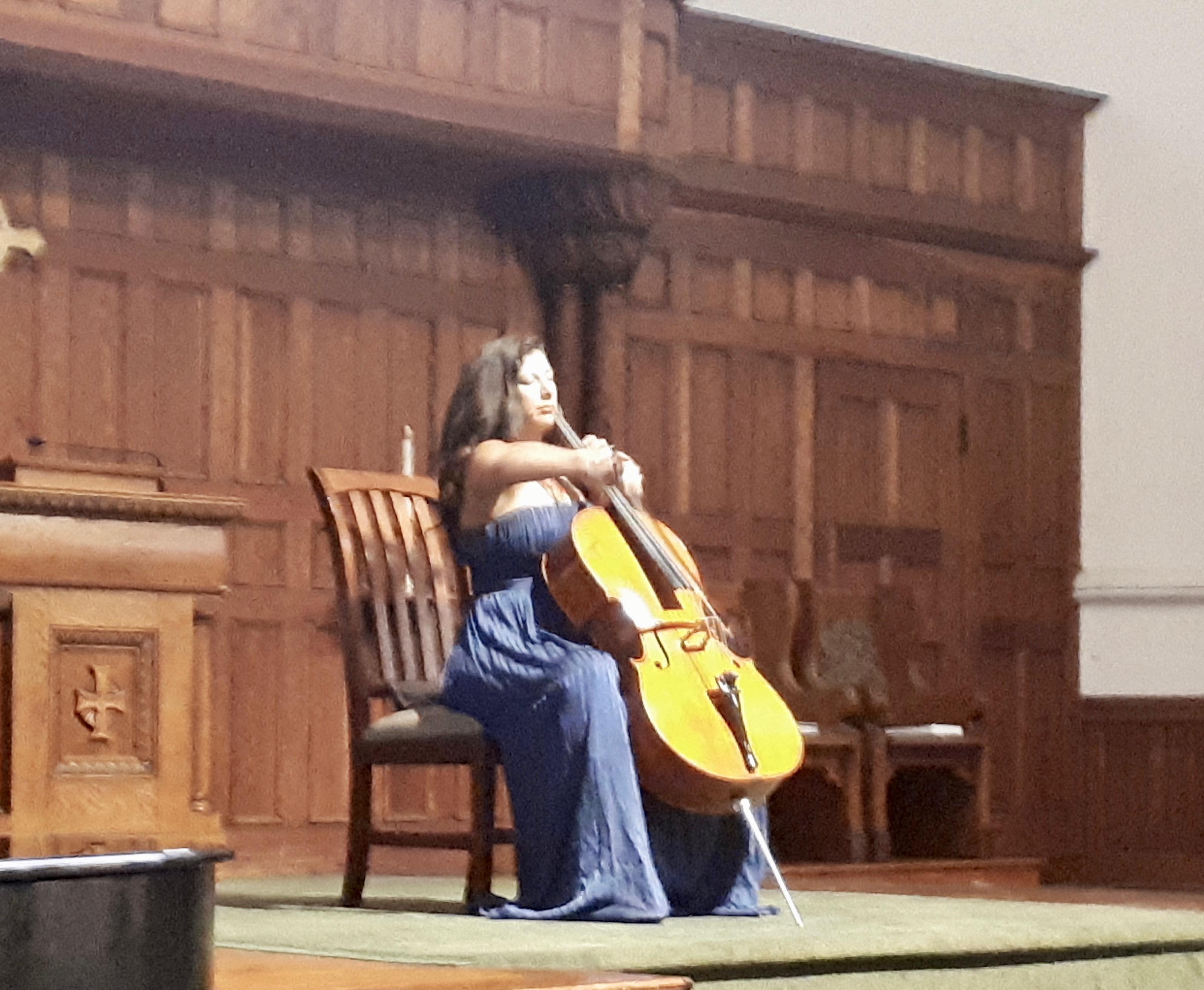 Performing at Circular Congregational Church