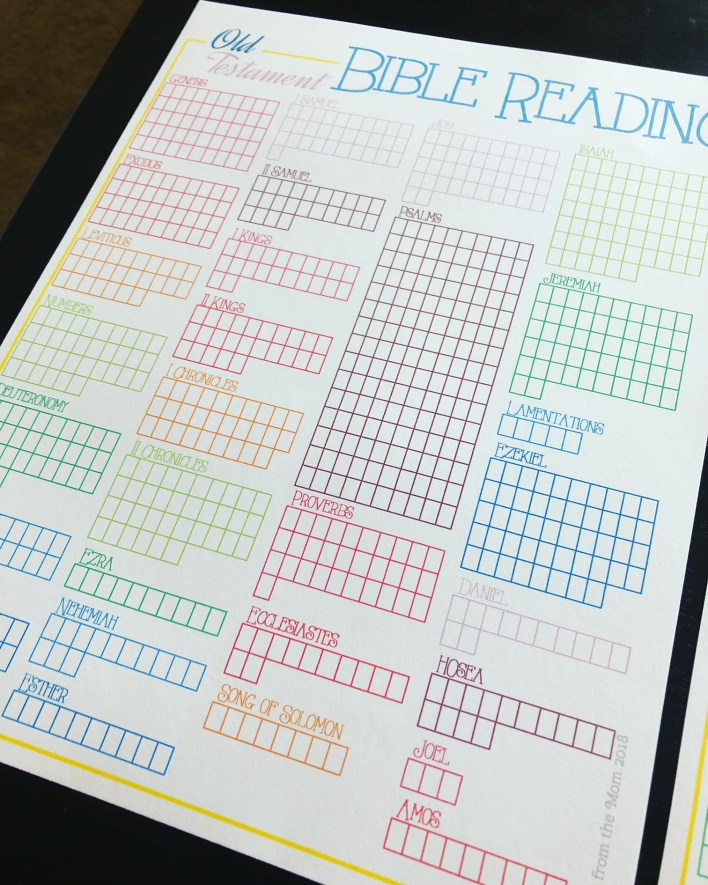 Daily Bible Reading Printable Bullet Journal Style - Tales