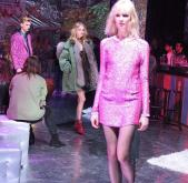 Pink lurex dress - highlight piece of the collection