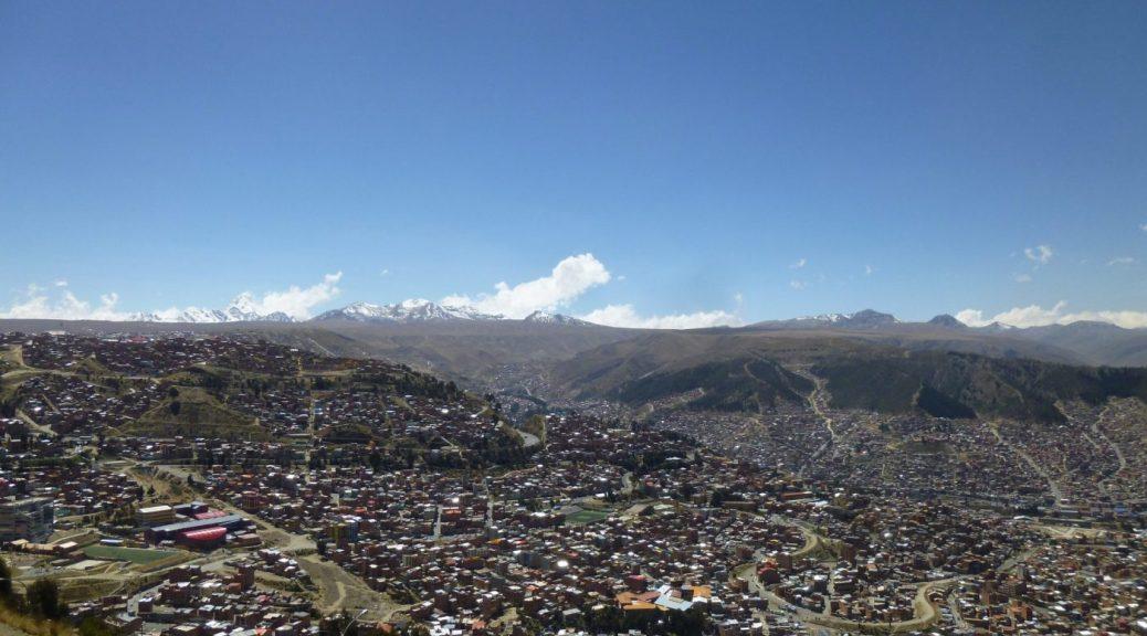 La Paz from the Cable Car Mi Teleferico