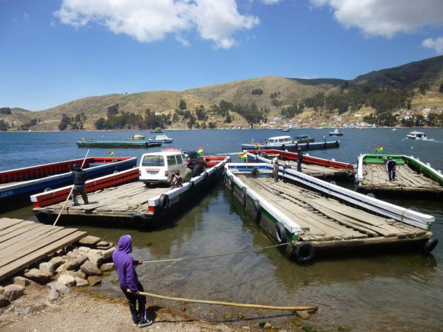 Water Taxis do their stuff on Lake Titicaca