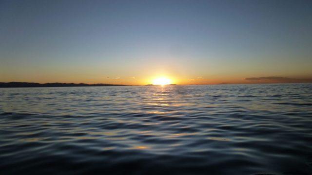 Sunset over Lake Titicaca