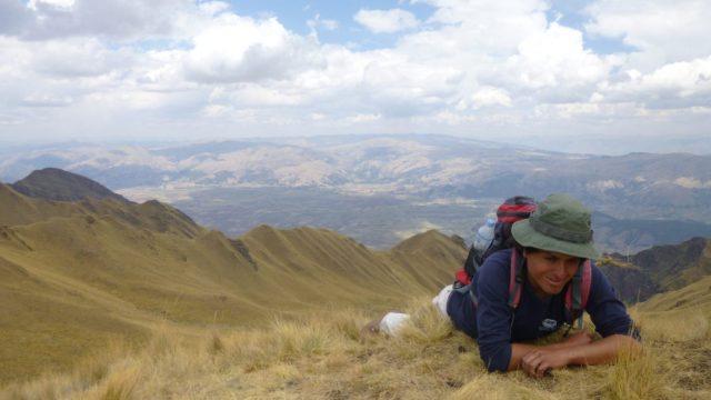 Our Machu Picchu Trek Guide, Jamil, enjoying the views