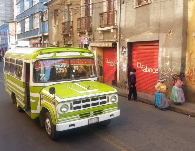 Tradition, Old Buses & Innovation come together in La Paz