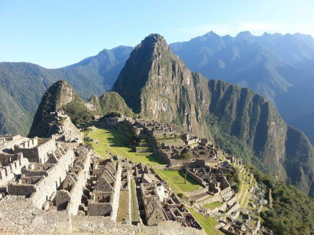 The sun rose over Machu Picchu