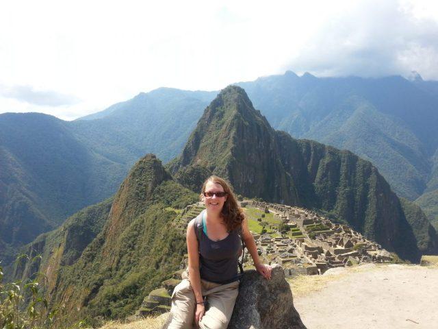 My grinning face at Machu Picchu
