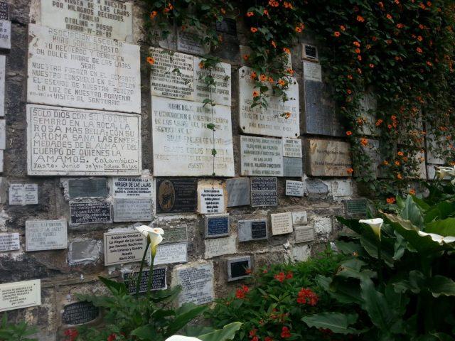 The Plaques at El Santuario de las Lajas