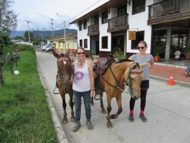 achey but happy after horse riding in Salento