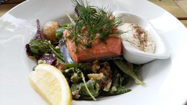 The Boat House Djurönäset's Summer Restaurant - Poached Salmon