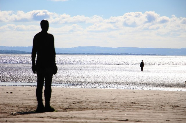 Anthony Gormley's Another Place statues on the Beach