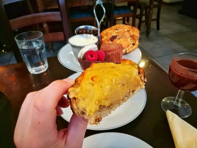 Delicious Rarebit on the Chocolate Afternoon Tea at York Cocoa House - The best afternoon tea in York