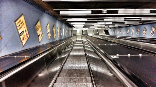 Stockholm's Subway Art - Even the escalators deserve to be photographed