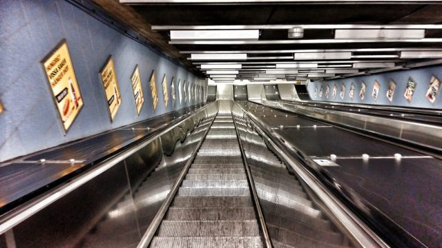 Stockholm's Subway Art - Even the escalators deserve to be photographed