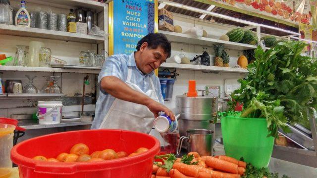 Fresh Orange Juice Casa Jacaranda cooking class in Mexico City
