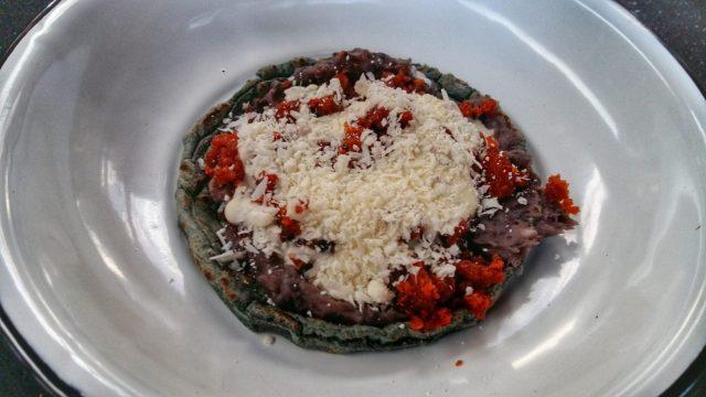 Sopes Casa Jacaranda cooking class in Mexico City
