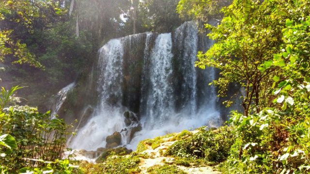 One of the waterfalls at El Nicho