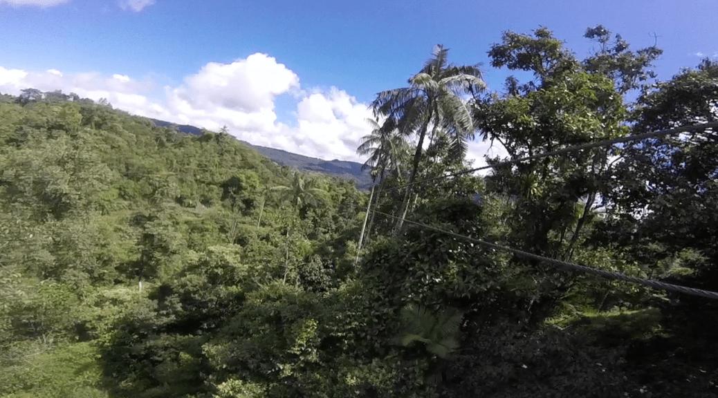 Ziplining in Mindo Ecuador extreme sports