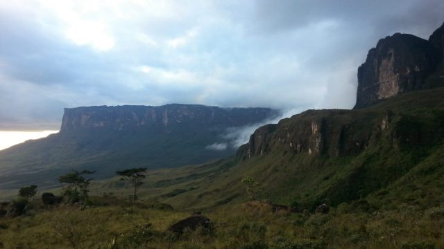 Part way towards Roraima, another Tepuy looms alongside us in the Canaima National Park