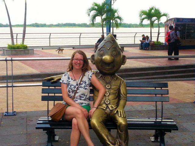 Making friends in Guayaquil, Ecuador