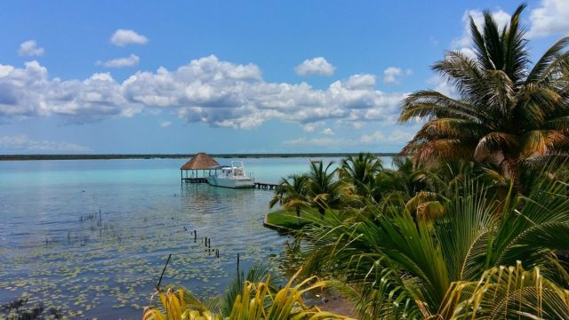 hostels are awesome! This was the view from my hostel in Bacalar, Mexico. Not too shabby eh?