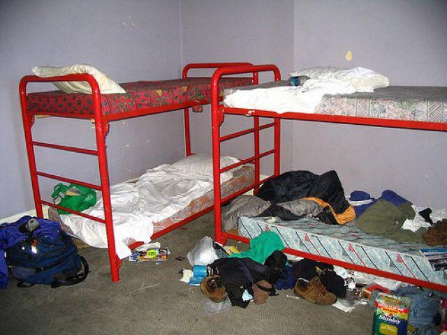 A Nasty Hostel Dorm Room. hostel nightmares