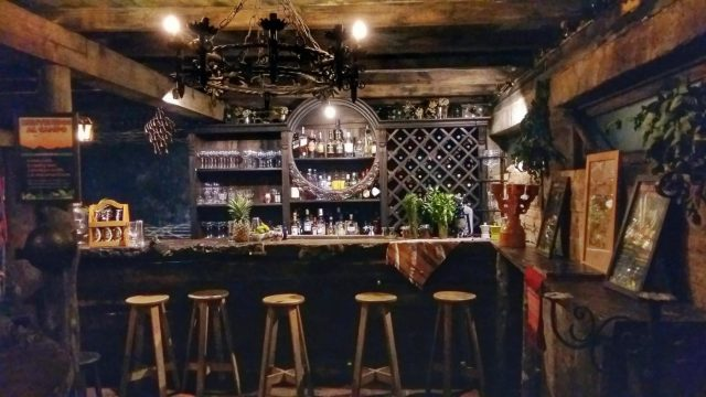 The bar at Hobbitenango rivals the Prancing Pony for rustic Hobbit charm in Antigua