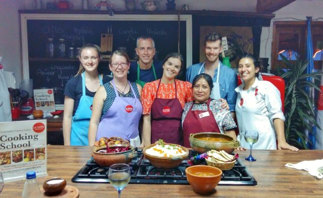 Our fabulous cooking class in Antigua! at La Tortilla cooking school antigua