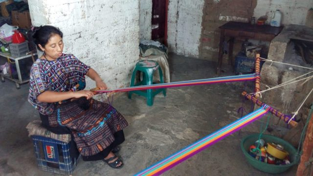 Backstrap Weaving class in Santa Cruz Lake Atitlan Guatemala