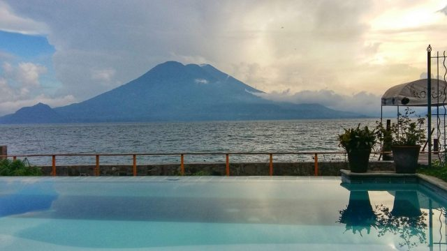 The pool at Ven Aca in Jaibalito Lake Atitlan Guatemala