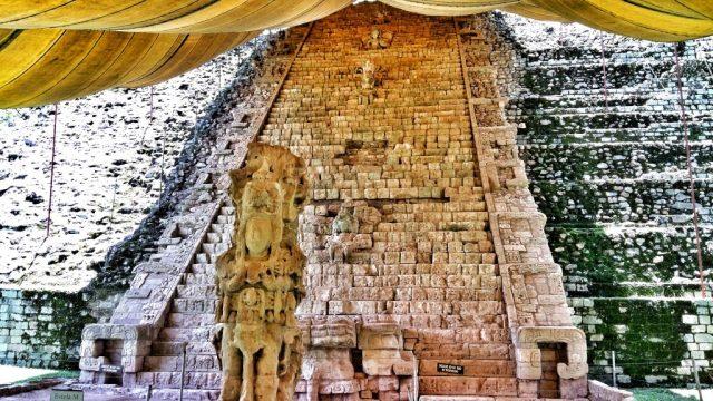 Hyroglyph staircase at Copan Ruinas