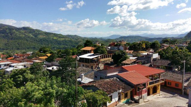 The View from Fuerte Cabanas mirador in Copan Honduras