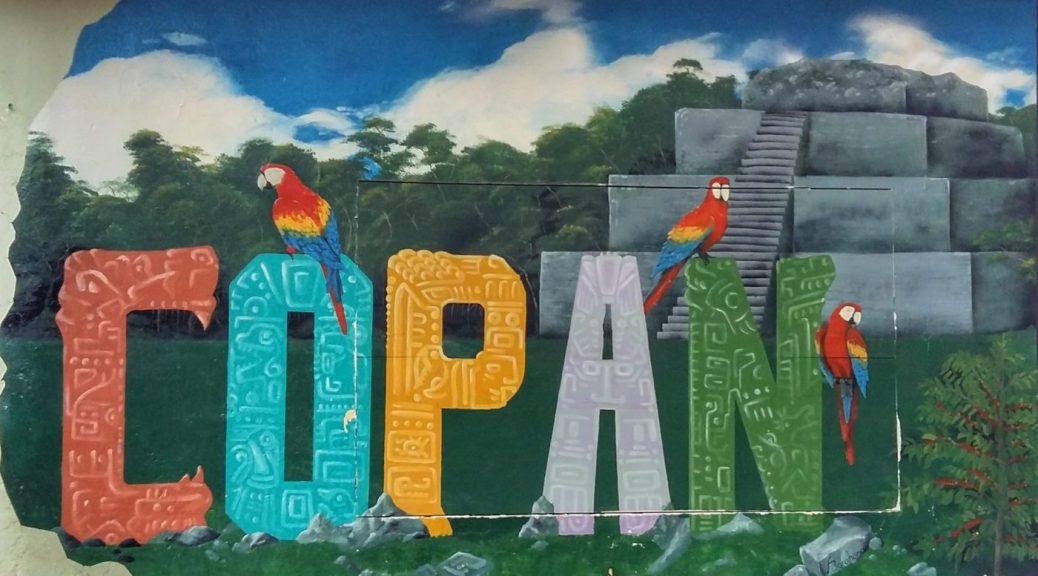 Mural in Copan Ruinas Honduras