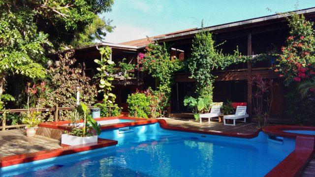 The Pool at our Utila Hotel Mango Inn