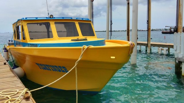 One of the Utila Dive Center's 4 Boats - The Fish Finder