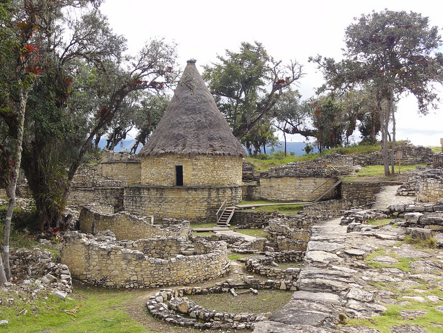 Kuelap pre inca ruins near Chachapoyas Peru