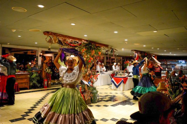 ram luna dancers-watching Costa Rican entertainment after spanish classes in San Jose