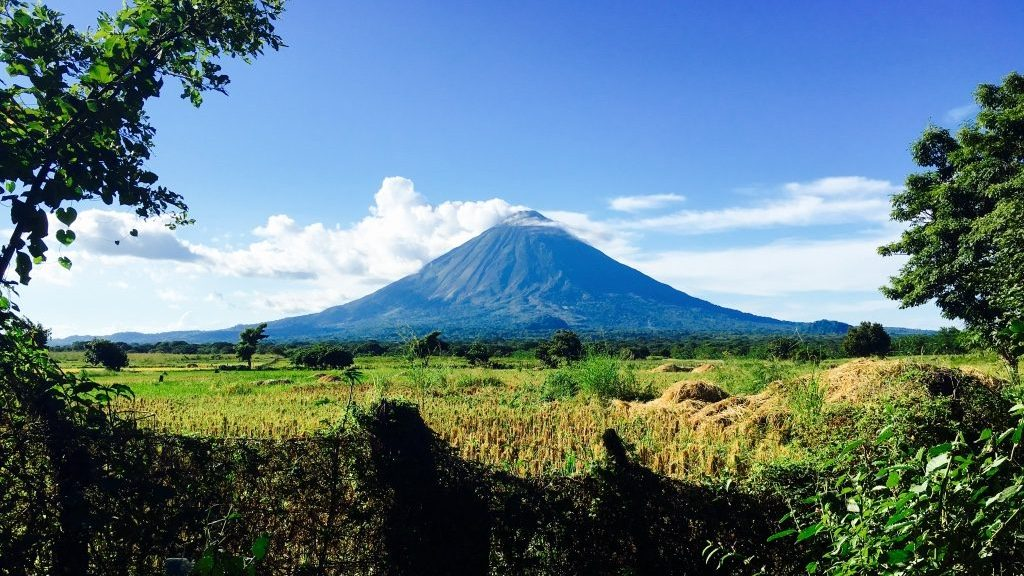 One of the beautiful volcanoes on Ometepe Island Nicaragua